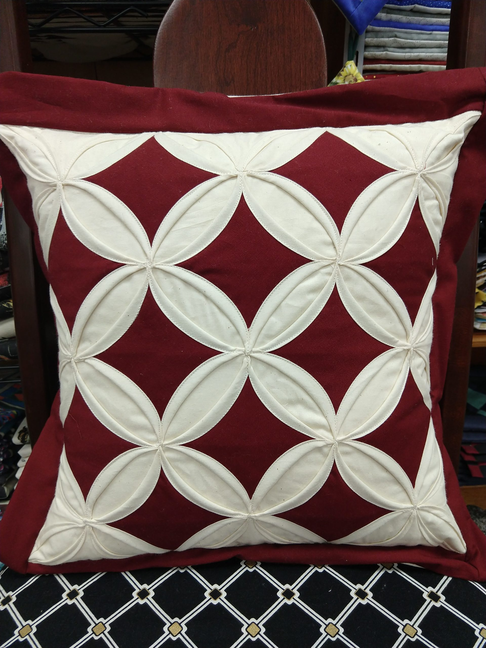 Admirable Cathedral Window Pillow Burgundy Ibusinesslaw Wood Chair Design Ideas Ibusinesslaworg